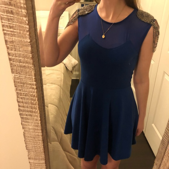 Soprano Dresses & Skirts - Soprano - Royal Blue Beaded Cocktail Dress